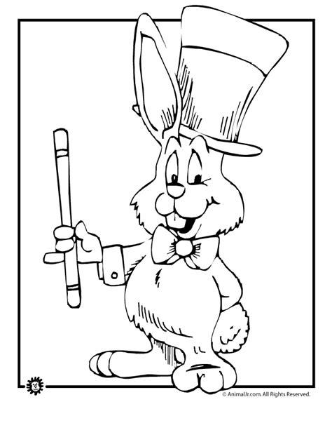 magic rabbit coloring page woo jr kids activities