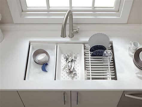 kitchen sink accessories uk k 5540 prolific mount stainless steel sink with 5617
