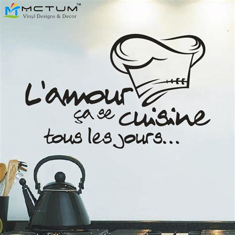 stickers cuisine phrase reomvable cuisine stickers vinyl wall stickers