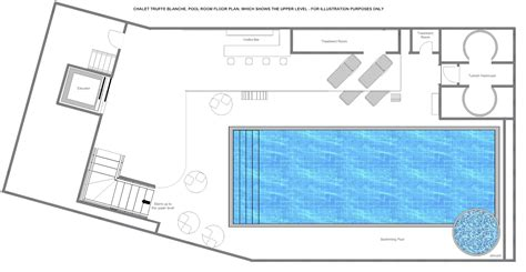 plan for swimming pool truffe blanche luxury chalets verbier