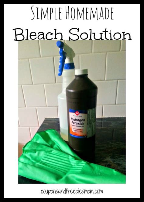 Simple Homemade Bleach Solution  Coupons And Freebies Mom