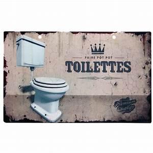 Plaque De Metal : plaque de porte m tal original esprit vintage toilettes class deco achat vente plaque de ~ Teatrodelosmanantiales.com Idées de Décoration
