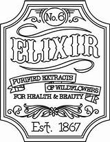 Embroidery Apothecary Victorian Urbanthreads Elixir Label Patterns Designs Halloween Labels Coloring Hand Pages Steampunk Urban Threads Adult Regularsize Productimages Awesome sketch template
