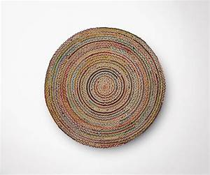 Tapis Rond Design : tapis rond jute multicolor 100cm diam tre style moderne ethnique ~ Teatrodelosmanantiales.com Idées de Décoration