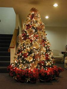 Mesmerizing, Golden, Christmas, Tree, Decoration
