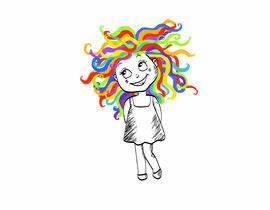 Draw Dr Suess Sketch type of drawing of real person with