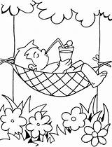 Summer Coloring Pages Holiday Site sketch template