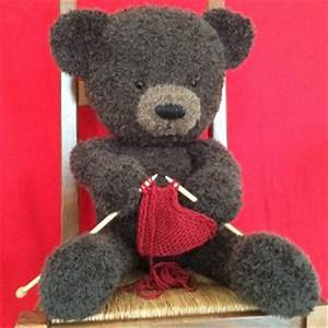 Gros Nounours En Peluche : un gros nounours tricoter avec le coeur 1 5 ~ Teatrodelosmanantiales.com Idées de Décoration