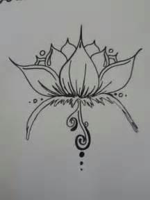 Lotus Flower Henna Tattoo Designs