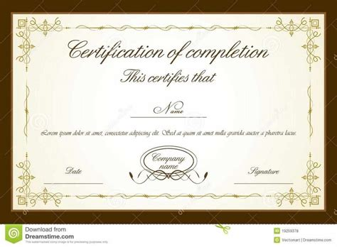 Certificate Templates For Word Free Downloads by Certificate Templates Psd Certificate Templates