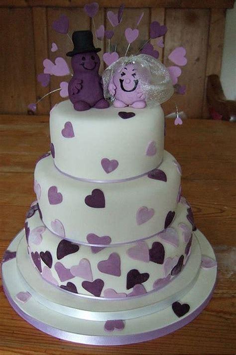 Beautiful Purple Wedding Cakes Wedding Cake Toppers