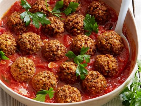 lentil mushroom meatballs recipe food network kitchen