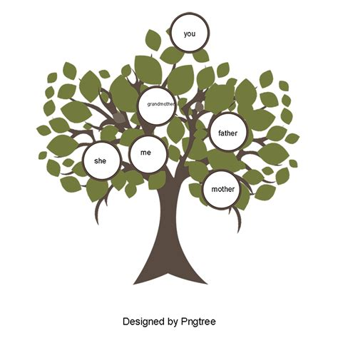 Clipart Pictures Templates Family Tree Template Png Small Flower Family Tree Vector Material Pink Flowers