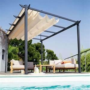 Voile Pour Pergola : pergola voile d 39 ombre tonnelle prot ger sa terrasse du soleil c t maison ~ Melissatoandfro.com Idées de Décoration