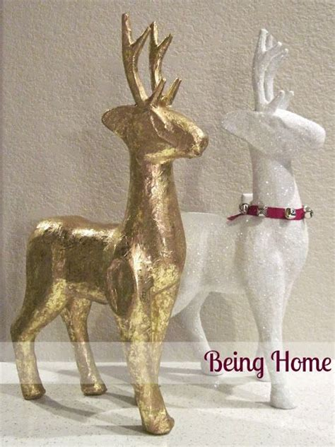 paper mache reindeer and snow on pinterest