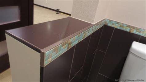 Cutting Schluter Tile Edging by Help Tiling Outside Corner On Shower Bench Ceramic Tile