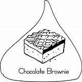 Coloring Chocolate Pages Printable Brownie Abcteach sketch template