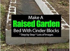 Make A Raised Garden Bed With Cinder Blocks