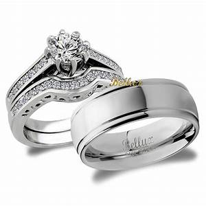 his and hers bridal matching wedding ring set ebay With wedding ring set his and hers
