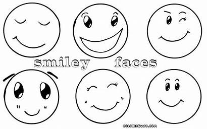 Coloring Smiley Face Pages Happy Faces Kerra
