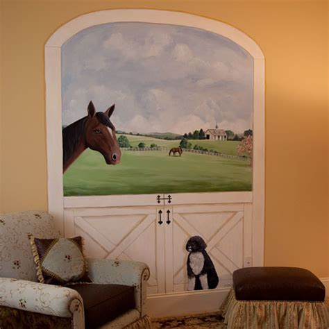 Horse Stable Mural  Traditional  Kids  Richmond  By. Advance Full Hd Banners. Hall Murals. Noise Murals. Horn Signs. Silverstep Banners. Riding Signs Of Stroke. Trd Decals Decals. Continuous Line Logo