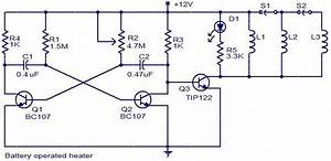 Battery Operated Heater Circuit Diagram