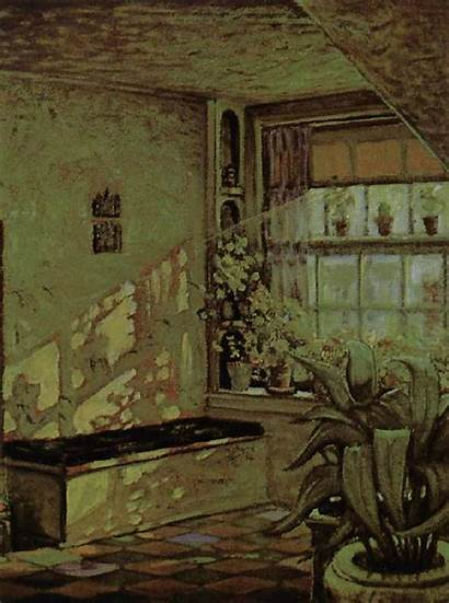 Grant Wood Corner Famous Paintings Sun Shine