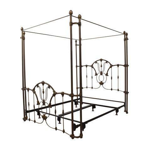 60 off bronze metal canopy queen bed frame beds