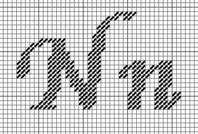 calligraphic needlepoint alphabet  pattern needlepoint monogram needlepoint letters