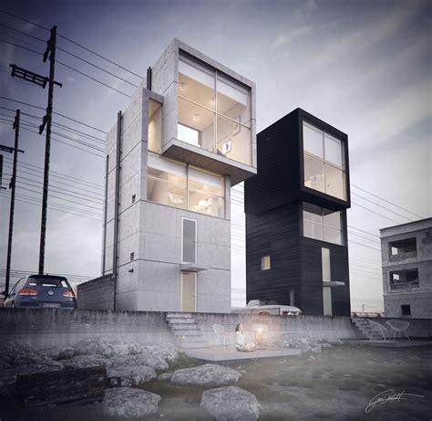 ando 4x4 house by juan delgado architecture 3d cgsociety tadao ando 인테리어 집
