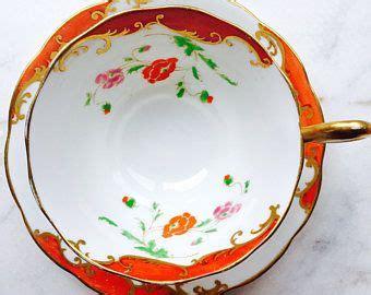dinnerware tea orange poppy royal albert crown china orange poppy nouveau avon