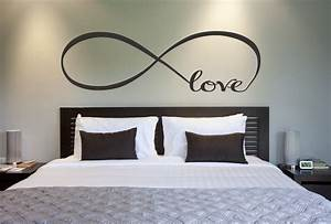 Love infinity symbol bedroom wall decal decor
