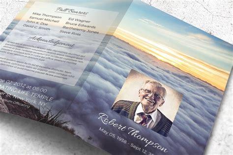 memorial program template  heavens opened