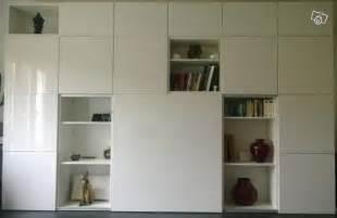 Creer Armoire Avec Ikea by Grand Meuble Tv Et Rangement Blanc Besta Ikea Ameublement