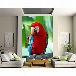 Papier Peint Sticker : papier peint g ant perroquet art d co stickers ~ Premium-room.com Idées de Décoration