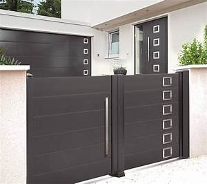 porte de garage avec portillon lapeyre wasuk With portail garage avec porte intégrée