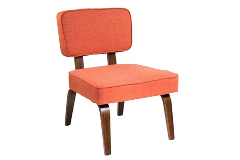 nunzio mid century modern accent chair in orange by