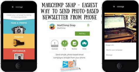 Mailchimp Mobile Templates by Mailchimp Snap Send Photo Based Newsletter From Phone