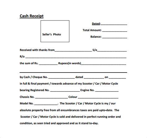 cash receipt salary format