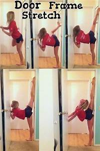 door frame stretch also learn how to do splits gotta try ...