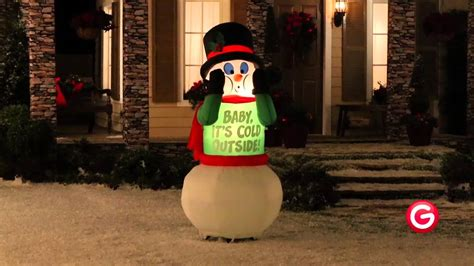 airblown inflatables shivering snowman  gemmy youtube