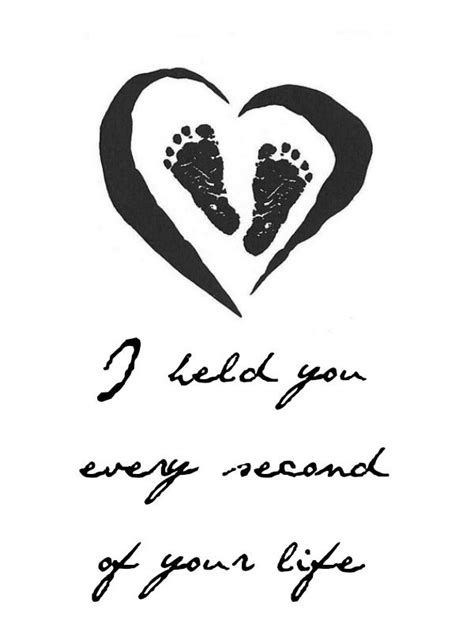 Miscarriage tattoo Design – Little feet inside heart with