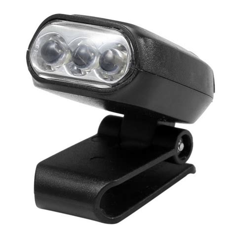 mini clip light mini clip hat light headl w 3 brightness led light black free shipping dealextreme