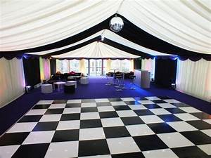 Black and white dance floor size for wedding linkedin for Wedding dance floor size