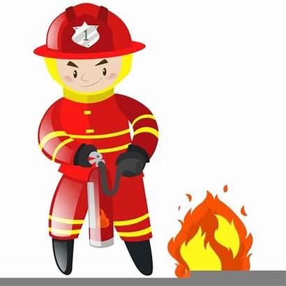 Fireman Clipart Cartoon Blussen Feuerwehrmann Brandweerman Bombeiro