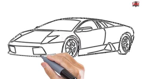 How To Draw A Lamborghini Easy Step By Step Drawing