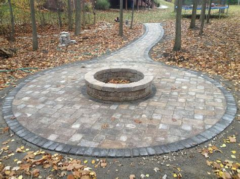 Fire Pit In The Woods...brick Paver Patio And Tumbled Christmas Lights For Outside Decorative Track Lighting Garage Light Fish Bar Bazz Led Therapy Pain Picture
