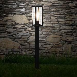 Standleuchte Mit Bewegungsmelder Aussen : s luce chalet poller aussen standleuchte 80cm schwarz 48588 ~ Bigdaddyawards.com Haus und Dekorationen