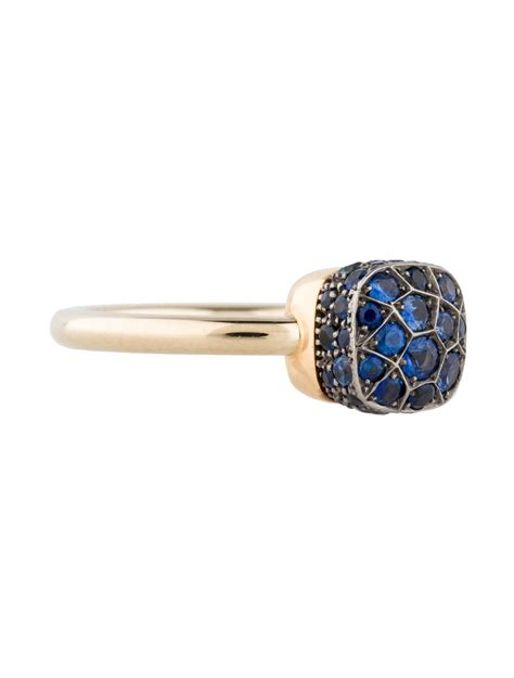 pomellato ring nudo pomellato pav 233 sapphire nudo ring rings pom20339 the