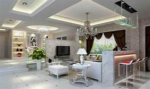 Ceiling unit design for living dining room and hallway